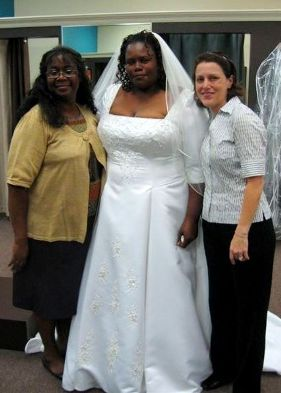 Tonja's dress fitting at Modern Bridal