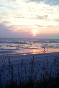 The sun sets on Naples Beach