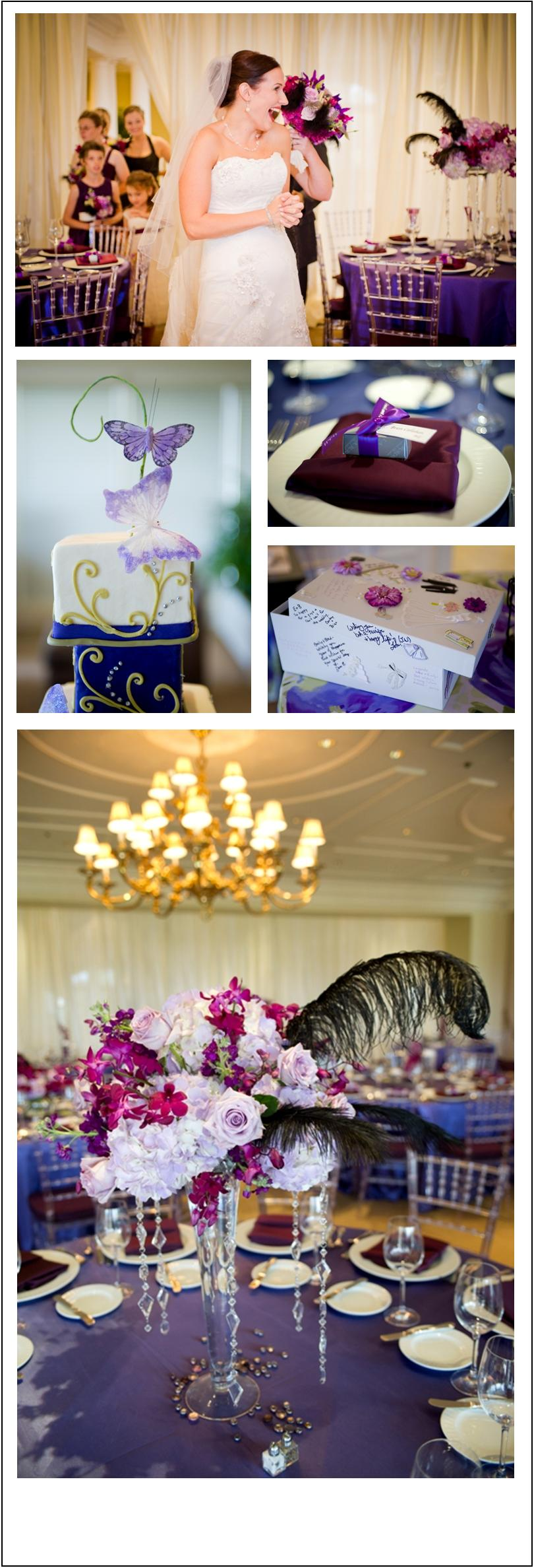 Lake Nona Reception Details - purple and plum wedding