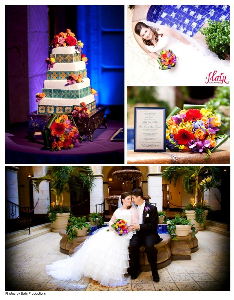 colorful mexican-themed wedding at Isleworth Club