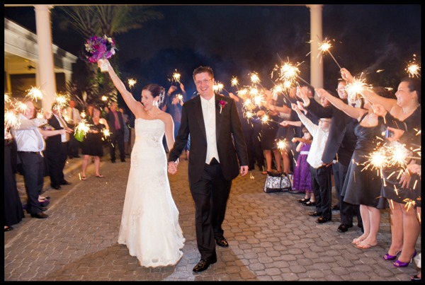 Exit With Wedding Sparklers