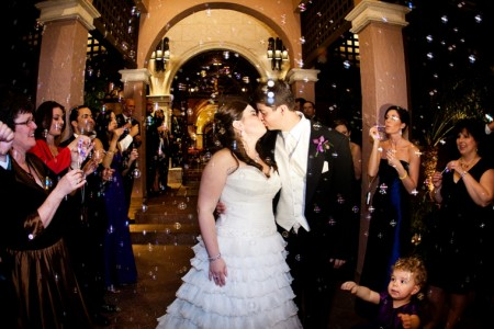 bubble exit at isleworth club wedding orlando
