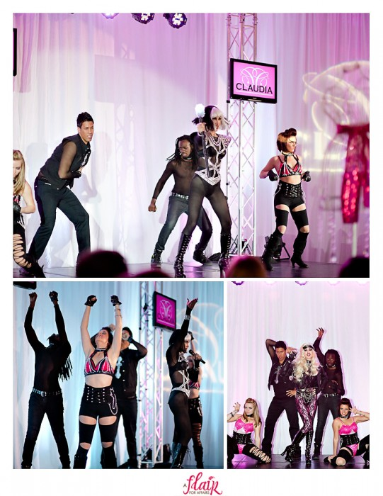 Lady Gaga performer with dancers