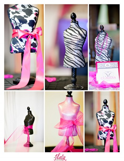 mini dress forms centerpieces