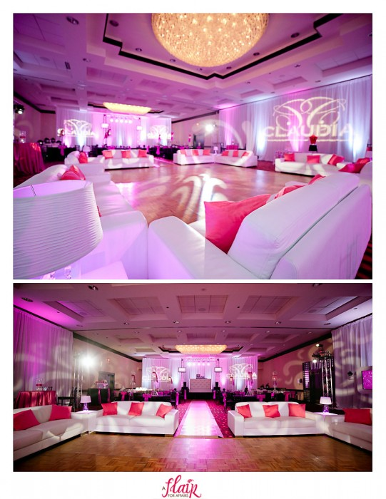 Ballroom reception for quince - sweet 15