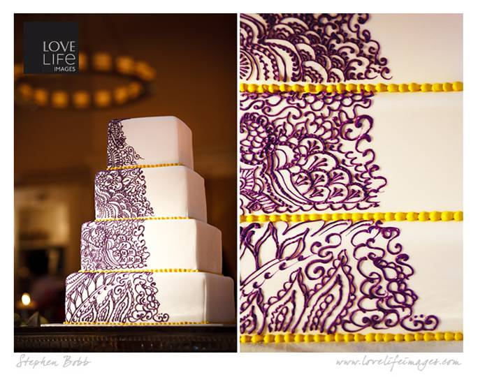 Purple Henna Cake by Sugar Coated Desserts and Cakes